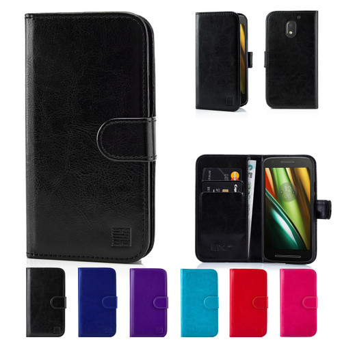 32nd synthetic leather book wallet Motorola Moto E3 Case in a range of great colours.