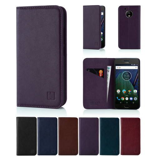 32nd real leather classic wallet Motorola Moto G5 Case in a range of fantastic colours.
