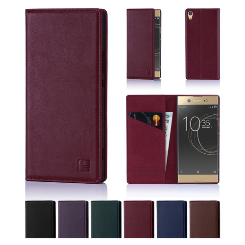 32nd real leather classic wallet Sony Xperia XA1 Ultra Case in a range of colours.