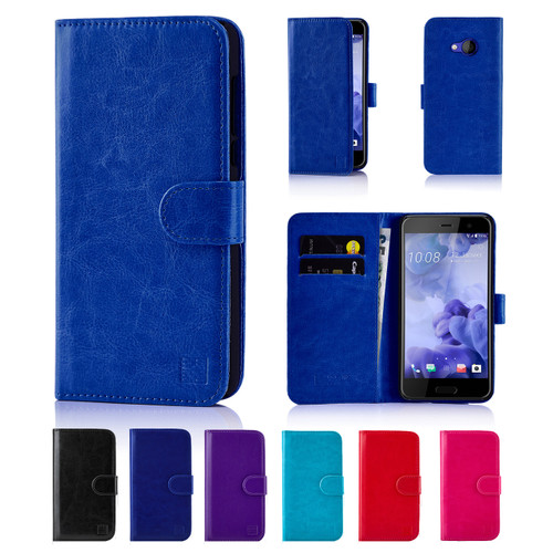 32nd Shop Book wallet HTC U Play case made from soft and durable synthetic leather including screen protector and stylus.