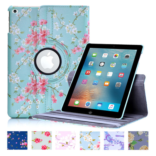 "32nd synthetic leather floral design book wallet Apple iPad 9.7"" (2017/2018) Case."