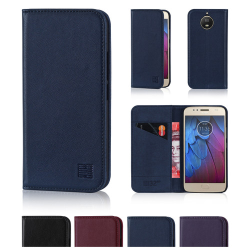 32nd real leather classic wallet Motorola Moto G5S Case in a range of fantastic colours.