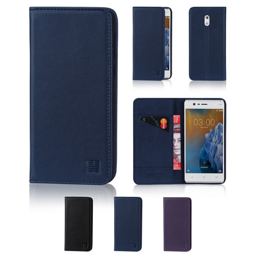 32nd real leather classic wallet Nokia 3 (2017) Case in a range of fantastic colours.