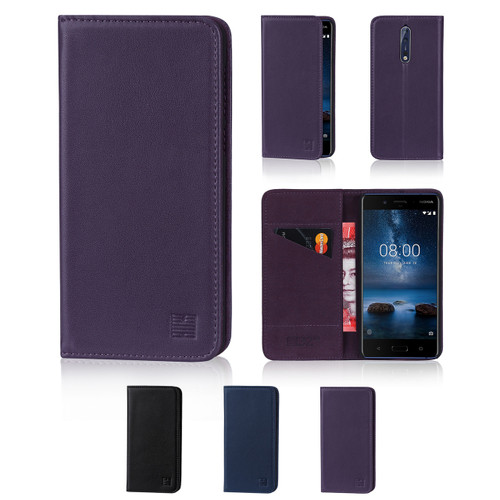32nd real leather classic wallet Nokia 8 (2017) Case in a range of fantastic colours.
