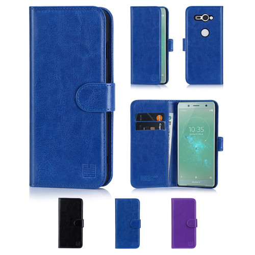 32nd synthetic leather book wallet Sony Xperia XZ2 Compact Case in a range of colours.
