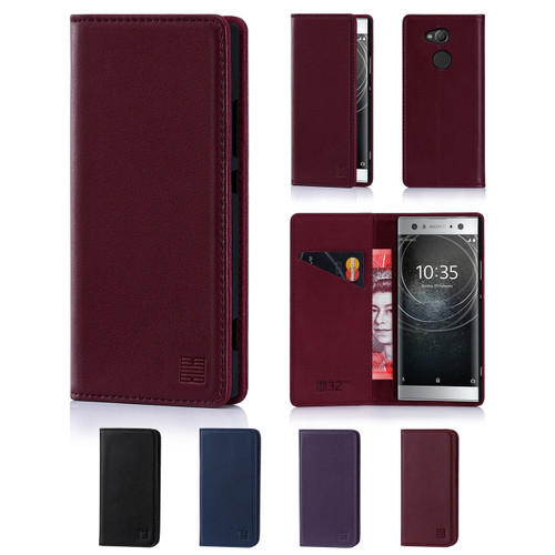 32nd real leather classic wallet Sony Xperia XA2 Ultra Case in a range of fantastic colours.