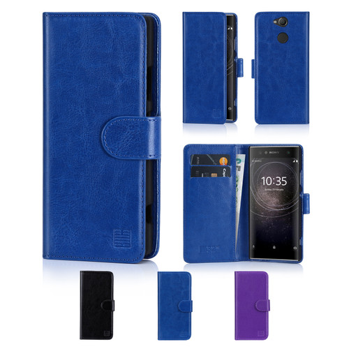 32nd synthetic leather book wallet Sony Xperia XA2 Case in a range of colours.