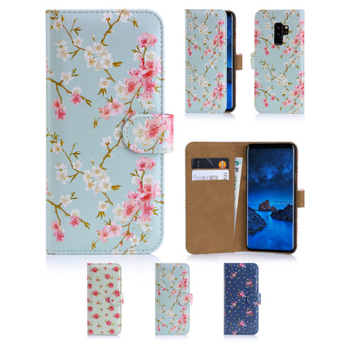 32nd synthetic leather floral design book wallet Samsung Galaxy S9 Case.
