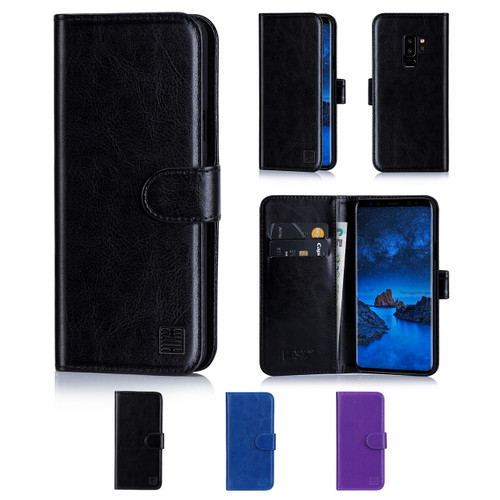 32nd synthetic leather book wallet Samsung Galaxy S9 Plus Case in a range of colours.