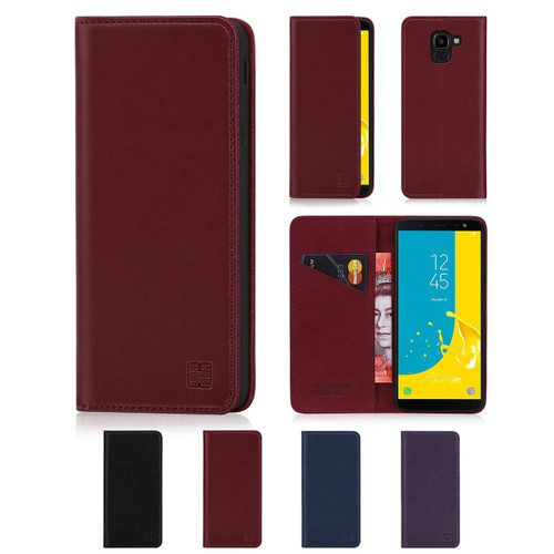 32nd real leather classic wallet Samsung Galaxy J6 (2018) Case in a range of fantastic colours.