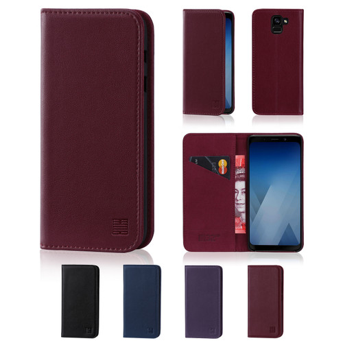32nd real leather classic wallet Samsung Galaxy A8 (2018) Case in a range of fantastic colours.