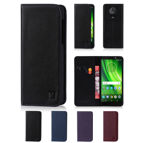 32nd real leather classic wallet Motorola Moto G6 Play Case in a range of fantastic colours.