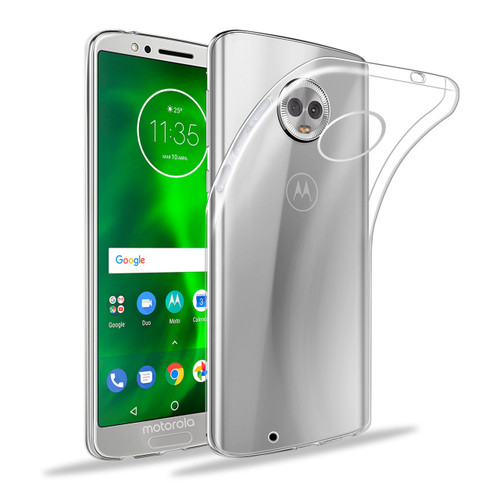 32nd clear gel Motorola Moto G6 Case.