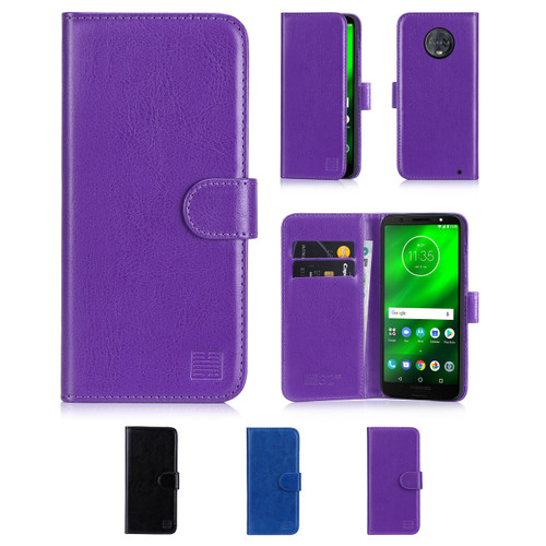 32nd synthetic leather book wallet Motorola Moto G6 Plus Case in a range of colours.