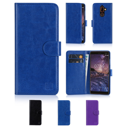 32nd synthetic leather book wallet Nokia 7 Plus (2018) Case in a range of colours.