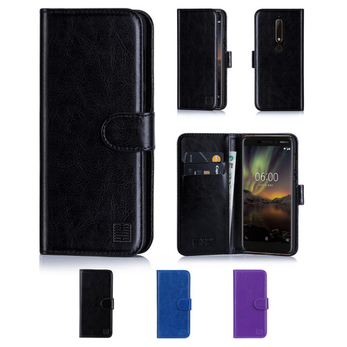 32nd synthetic leather book wallet Nokia 6.1 (2018) Case in a range of colours.