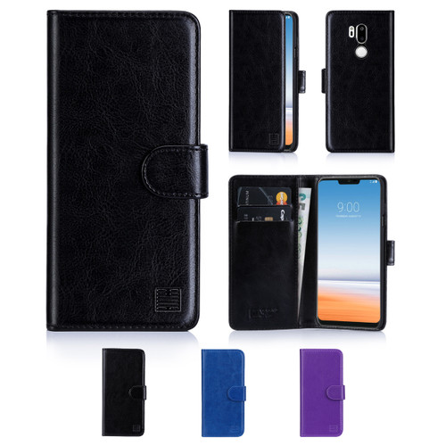32nd synthetic leather book wallet LG G7 ThinQ Case in a range of colours.