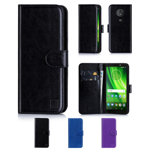 32nd synthetic leather book wallet Motorola Moto G6 Play Case in a range of colours.