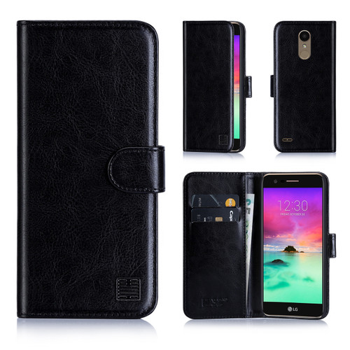 32nd synthetic leather book wallet LG K10 (2018) Case.
