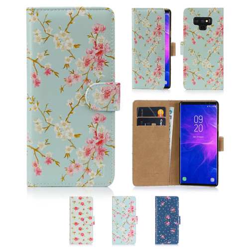32nd synthetic leather floral design book wallet Samsung Galaxy Note 9 Case.