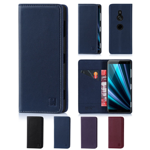 Sony Xperia XZ3 'Classic Series' Real Leather Book Wallet Case