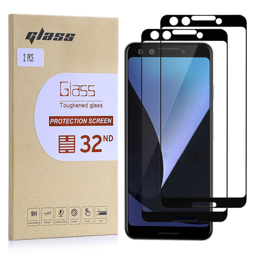 Google Pixel 3 Tempered Glass Screen Protector - 2 Pack
