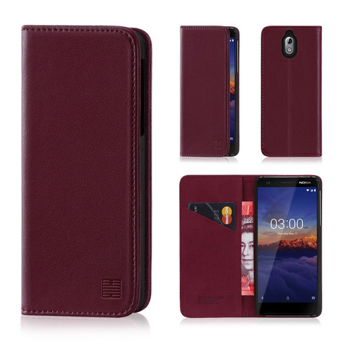Nokia 3.1 (2018) 'Classic Series' Real Leather Book Wallet Case