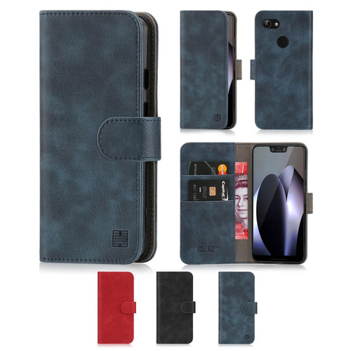 Google Pixel 3 XL 'Essential Series' PU Leather Wallet Case Cover