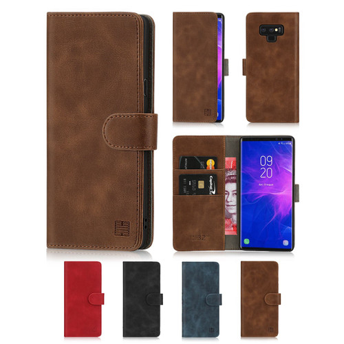 Samsung Galaxy Note 9 'Essential Series' PU Leather Wallet Case Cover