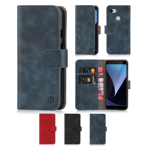 Google Pixel 3 'Essential Series' PU Leather Wallet Case Cover