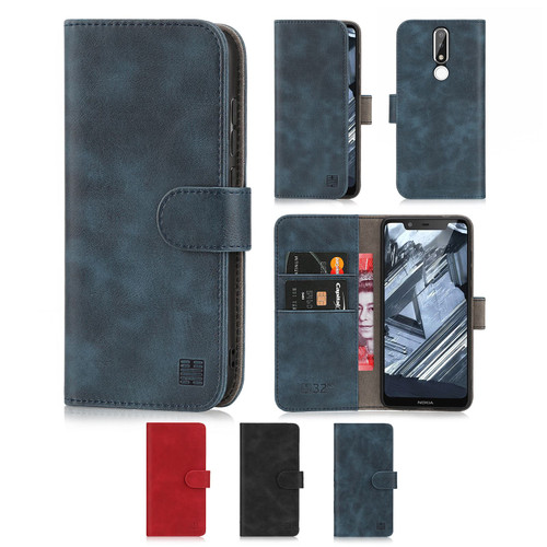 Nokia 5.1 Plus (2018) 'Essential Series' PU Leather Wallet Case Cover