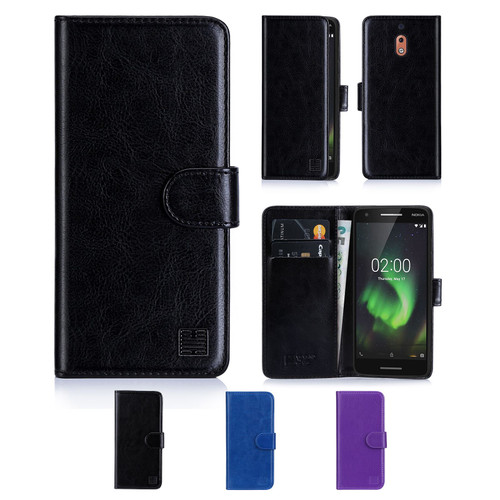 Nokia 2.1 (2018) 'Book Series' PU Leather Wallet Case Cover