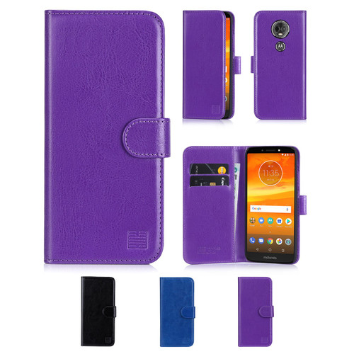 Motorola Moto E5 Plus 'Book Series' PU Leather Wallet Case Cover