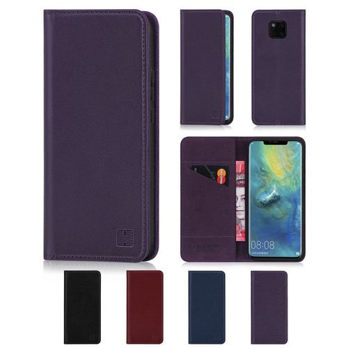 Huawei Mate 20 Pro 'Classic Series' Real Leather Book Wallet Case