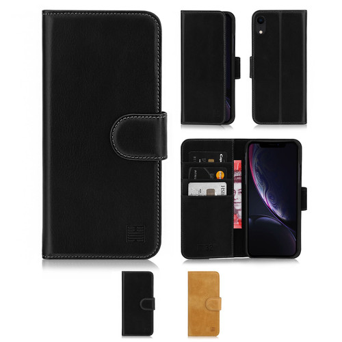 Apple iPhone XR 'Premium Series' Real Leather Book Wallet Case