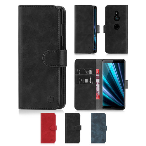 Sony Xperia XZ3 'Essential Series' PU Leather Wallet Case Cover