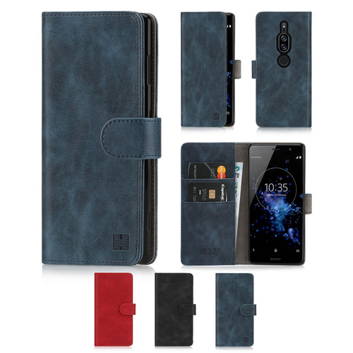Sony Xperia XZ2 Premium 'Essential Series' PU Leather Wallet Case Cover