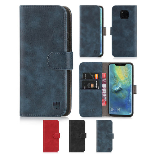 Huawei Mate 20 Pro 'Essential Series' PU Leather Wallet Case Cover