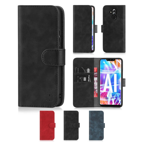 Huawei Mate 20 Lite 'Essential Series' PU Leather Wallet Case Cover