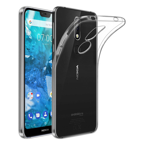Nokia 7.1 (2018) 'Clear Gel Series' TPU Case Cover - Clear