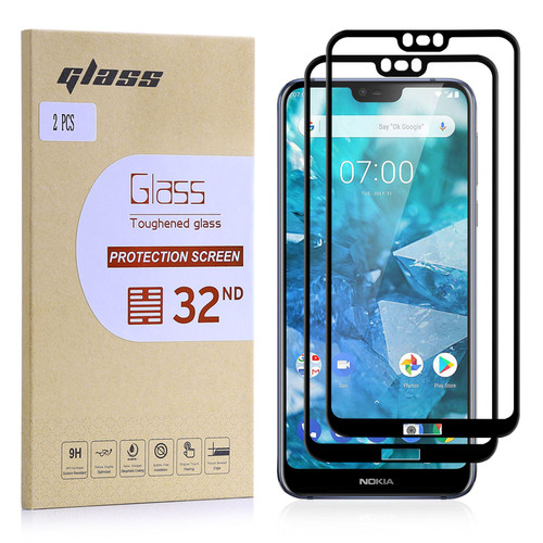 Nokia 7.1 (2018) Tempered Glass Screen Protector - 2 Pack