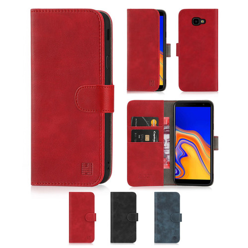 Samsung Galaxy J4 Plus (2018) 'Essential Series' PU Leather Wallet Case Cover