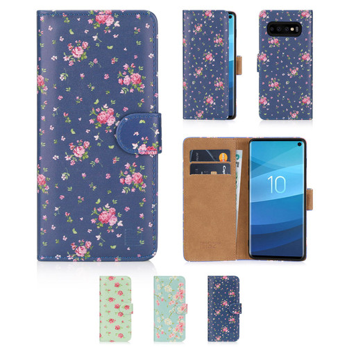 Samsung Galaxy S10 'Floral Series' PU Leather Design Book Wallet Case