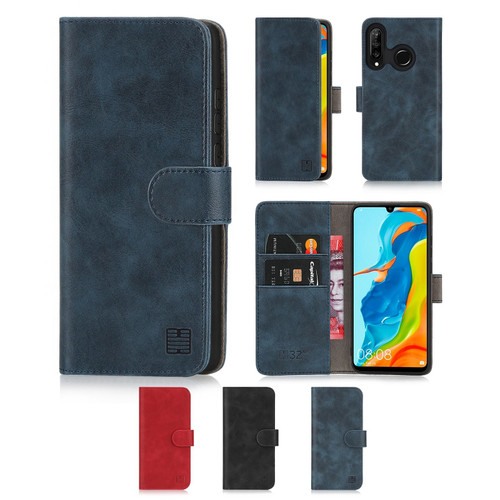Huawei P30 Lite 'Essential Series' PU Leather Wallet Case Cover