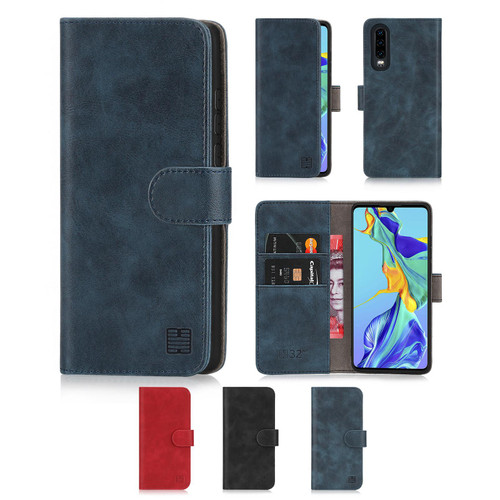 Huawei P30 'Essential Series' PU Leather Wallet Case Cover