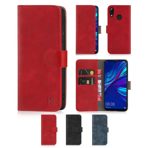 Huawei P Smart (2019) 'Essential Series' PU Leather Wallet Case Cover