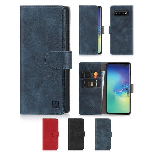 Samsung Galaxy S10 Plus 'Essential Series' PU Leather Wallet Case Cover