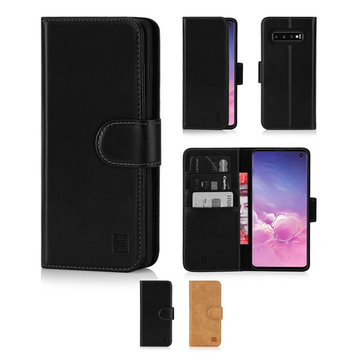 Samsung Galaxy S10 'Premium Series' Real Leather Book Wallet Case