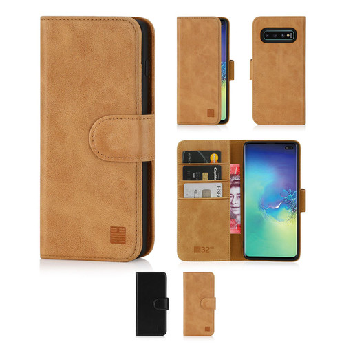 Samsung Galaxy S10 Plus 'Premium Series' Real Leather Book Wallet Case