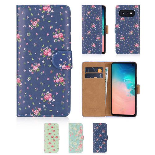 Samsung Galaxy S10e 'Floral Series' PU Leather Design Book Wallet Case